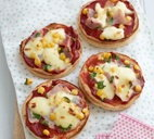 Yummy muffin pizzas