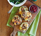 Potato, brie, sausage and sage patties