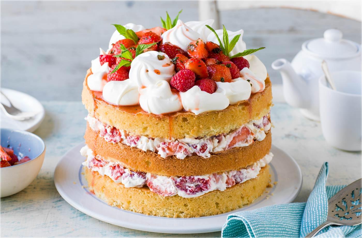 Tesco Victoria Cream Cakes