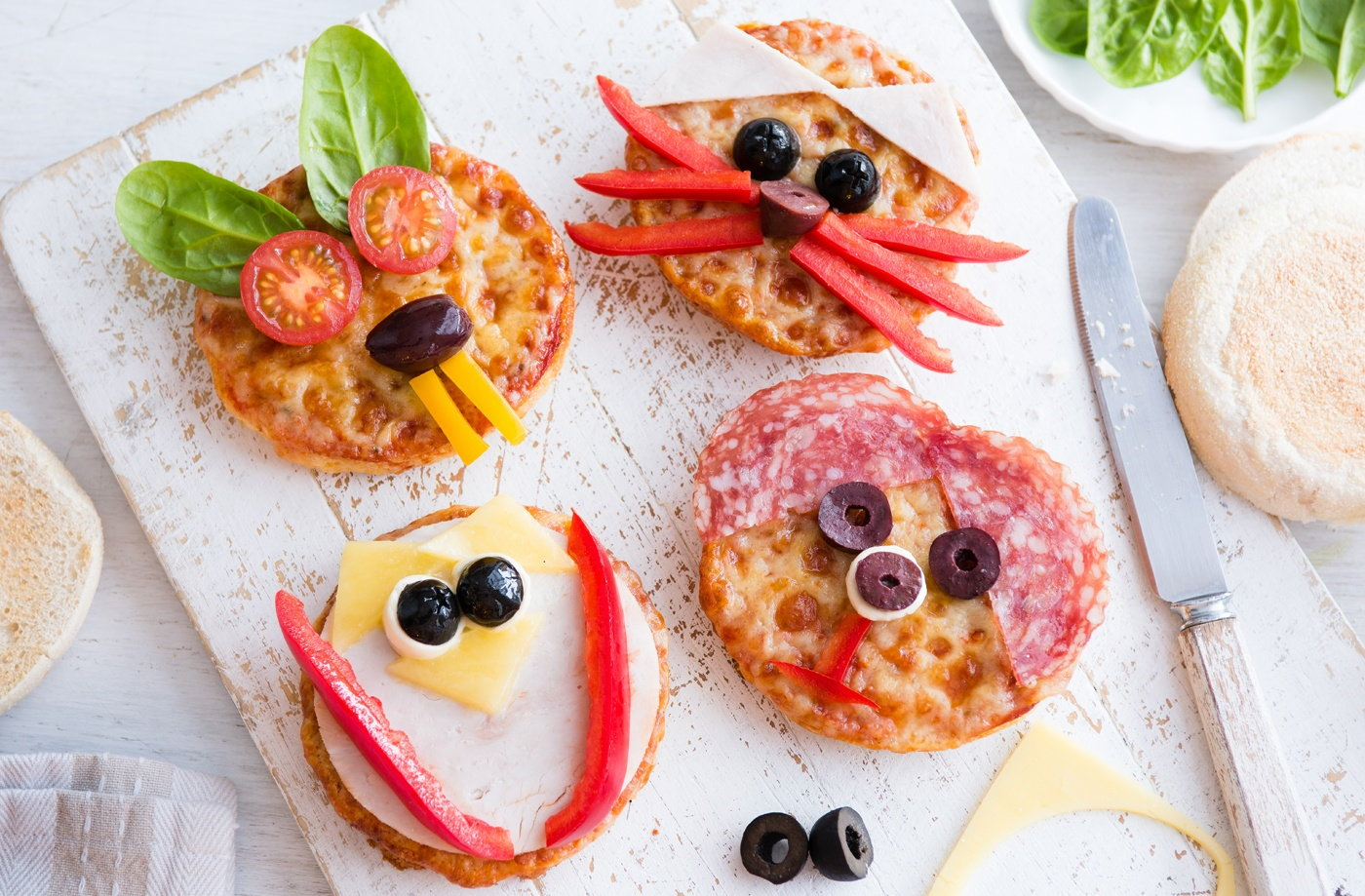 Muffin Animal Pizzas Kids Recipes Tesco Real Food