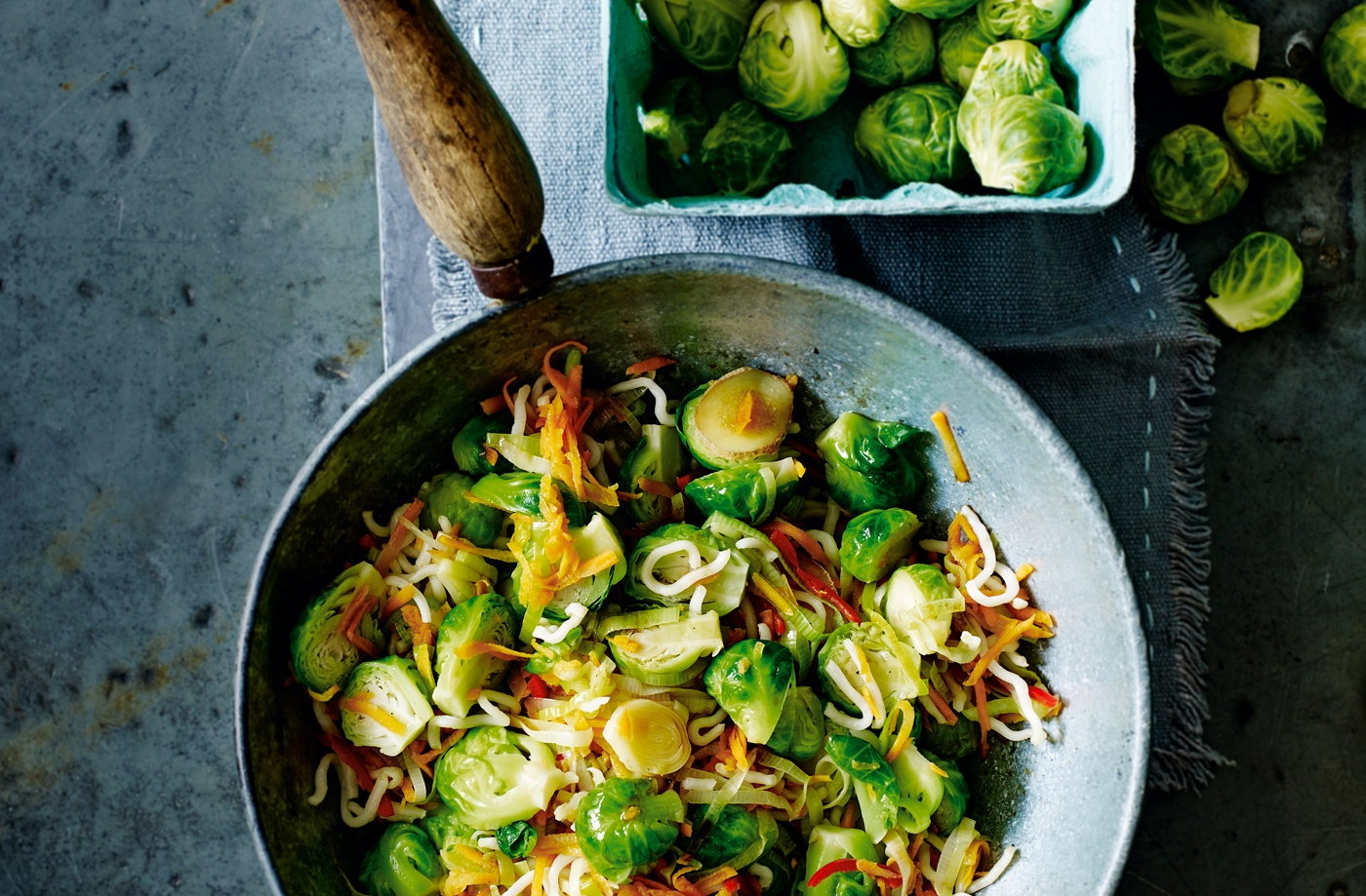 Stir-fried Brussels Sprouts With Leeks And Carrots Recipe | Christmas ...