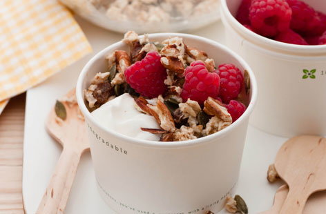 Raspberry and pecan Bircher muesli HERO