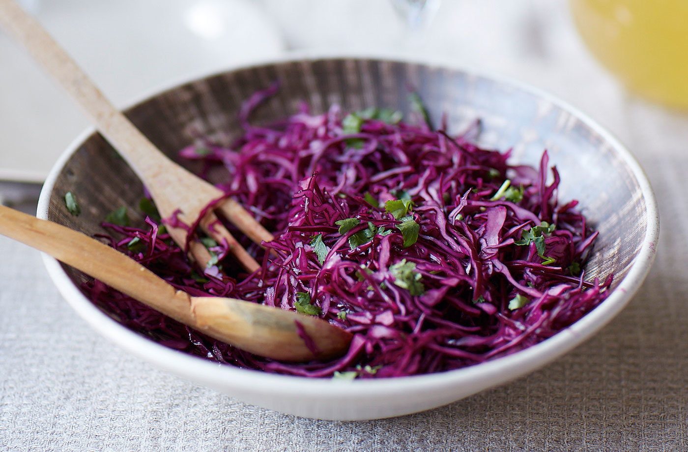 Red cabbage kimchi slaw   Tesco Real Food