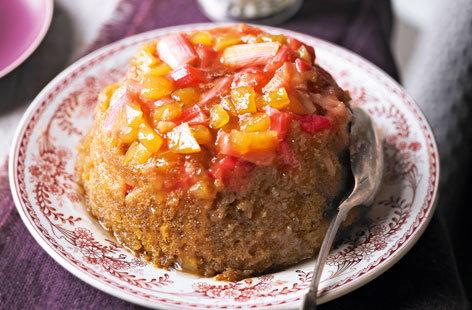 Rhubarb And Ginger Brioche Bread Pudding Recipe — Dishmaps