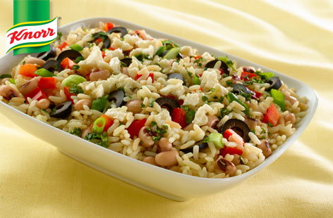 Rice and black eyed pea salad