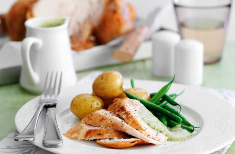 Roast chicken with watercress and lemon sauce HERO