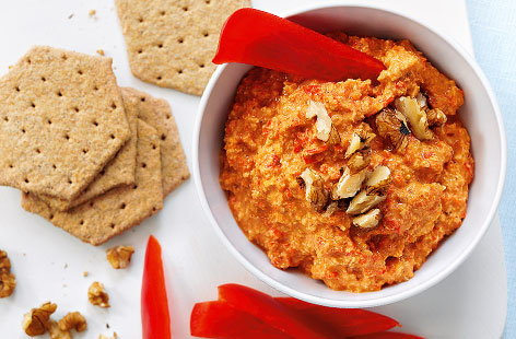 Roasted red pepper and walnut dip HERO