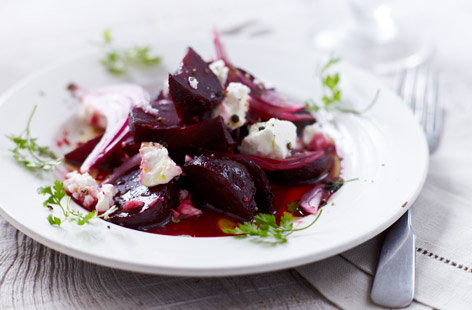Roasted beetroot and feta salad