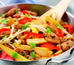 Soy seasoned chicken stir-fry