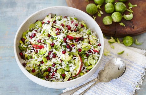 Sprout, celery and wild rice salad