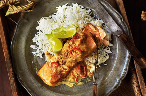 Salmon coconut and lime parcels HERO