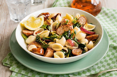 Sausage and kale pasta (T)