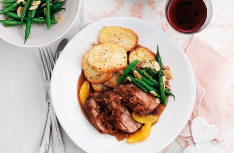 Seared duck breasts with orange and red wine vinegar sauce HERO