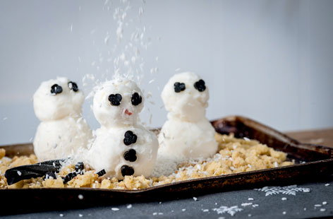 Alyn Williams' sorbet snowmen