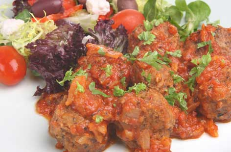 Soutzoukakia (Greek meatballs in tomato sauce) thumb