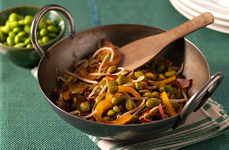Soya bean chilli & ginger stir fryHERO