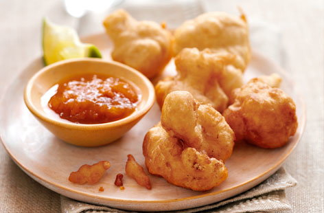 Spices cauliflower fritters THUMB