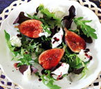 Spiced figs with mozzarella