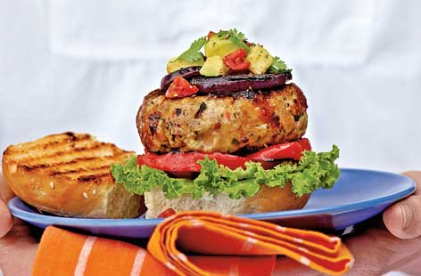 Spicy turkey burgers THUMB