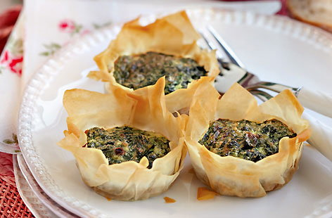 Spinach and Filo Tarts HERO