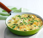 Spring onion and brie frittata