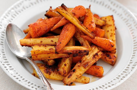Sticky Chantenay carrots and parsnips THUMB