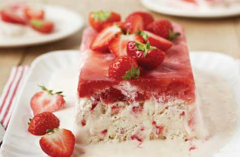 Strawberries And Cream Semifreddo Recipe — Dishmaps