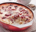 Strawberry oven-baked risotto