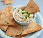 Bumpy beany dip with homemade tortilla chips
