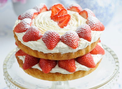 Sponge Cake With Cream And Jam Tesco