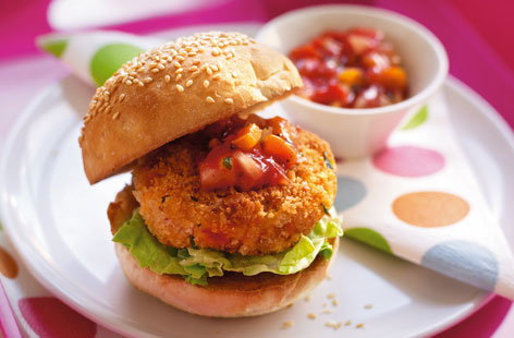 Sweet potato and vegetable burgers