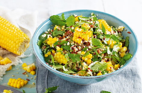 Sweetcorn and herb grain bowl (H)