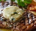 BBQ Steaks with Roquefort butter