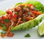 Crispy sweet chilli and Quorn lettuce wraps