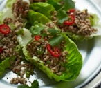 Thai-style pork and lettuce wraps
