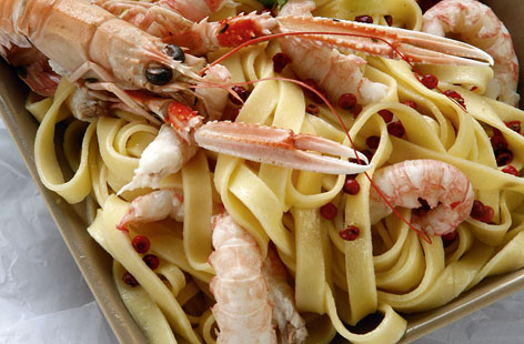 Tagliatelles with dublin bay prawn HERO