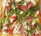 Ham and spring onion tart