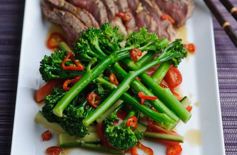 Tenderstem and Beef Pattani Salad HERO