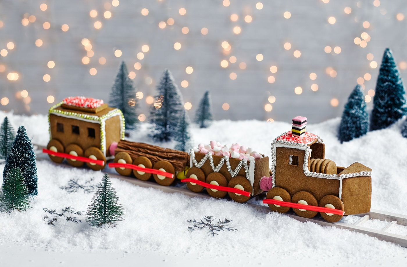 This fun and festive gingerbread train is packed with all your ...