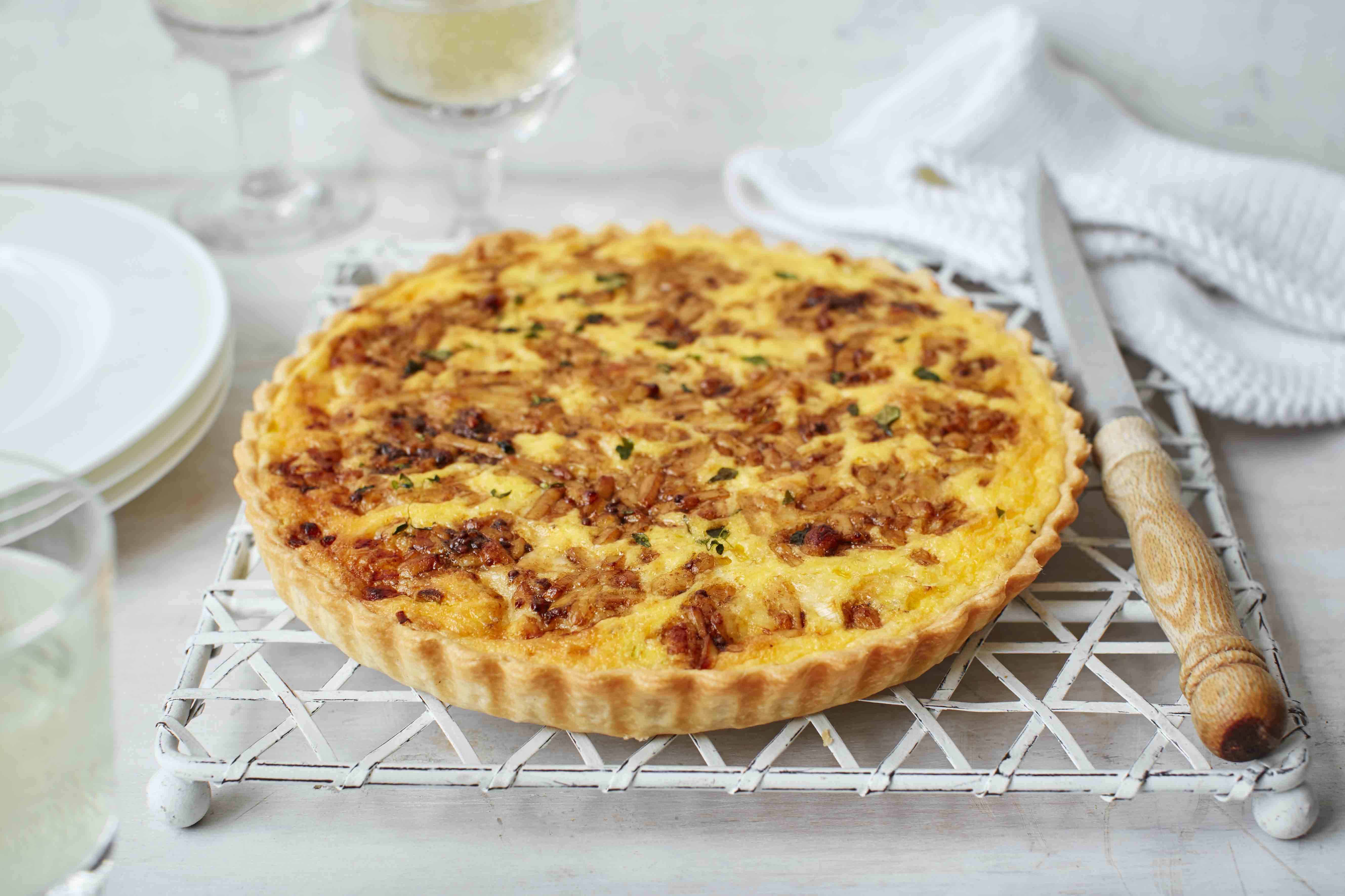 Inspired by classic Welsh rarebit, this gloriously cheesy tart is ...