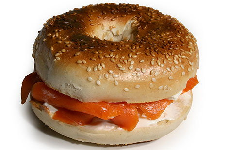 Toasted Smoked Salmon BagelsHERO