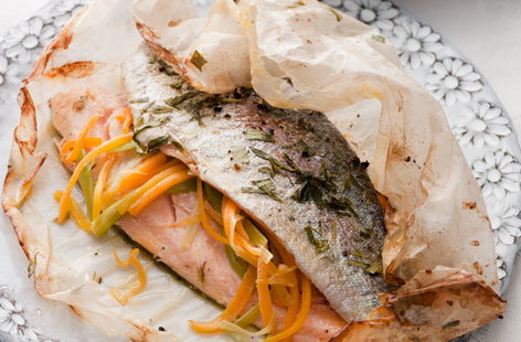 Trout Papillote With New Potatoes Tesco Real Food