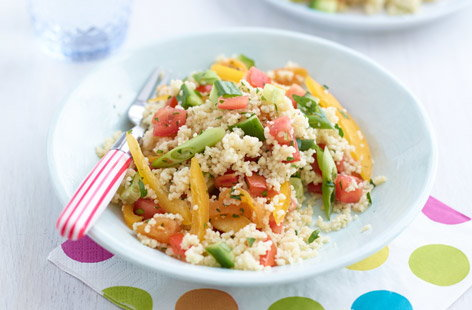 Colourful vegetable couscous