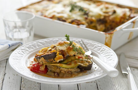 Healthy living vegetable lasagne