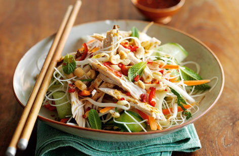 Vietnamese chicken noodle salad HERO