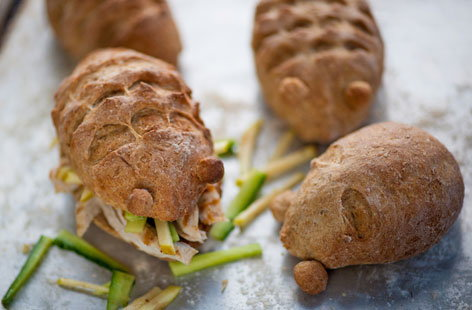 William Drabble's chicken and apple hedgehog rolls