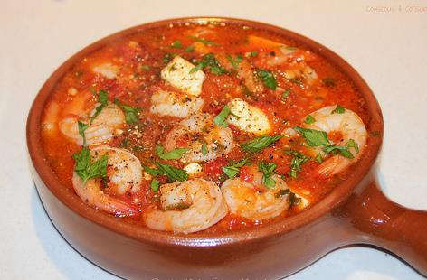 Probably the best picture of saganaki prawns my that we could find