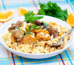 Beef and apricot couscous