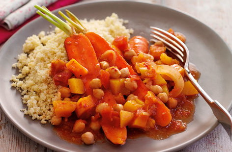Carrot and chickpea stew