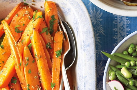 Roasted carrots with fennel seeds